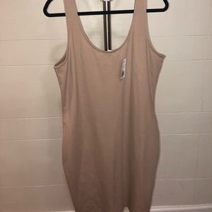 Tan stretchy dress